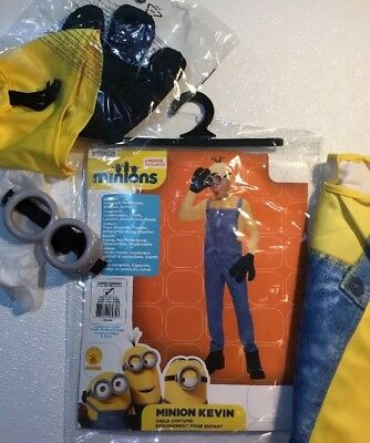 NEW MINIONS KEVIN Childrens Halloween Costume Large 12 - 14 Goggles Hat Suit Set](Kevin Costume)