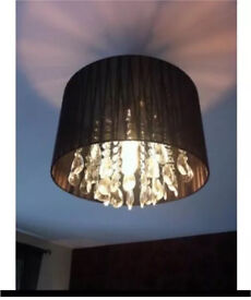 Next glass crystal effect droplet chandelier light shade