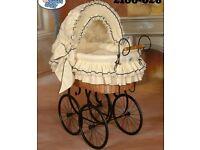 Large Vintage baby crib pram