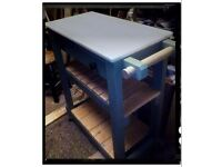 Rustic kitchen island/trolley made by Chic Geek originals