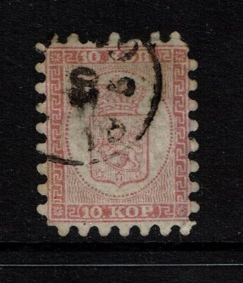 Finland SC# 5, Used, few missing teeth, town cancel - S2426