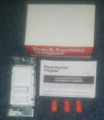 Legrand Pass Seymour 90680-w 600-watt Decorator Incandescent Slide Dimmer