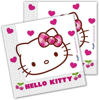 Hello Kitty 20Stck Servietten Kinder Partygeschirr Geburtstag Kindergeburtstag