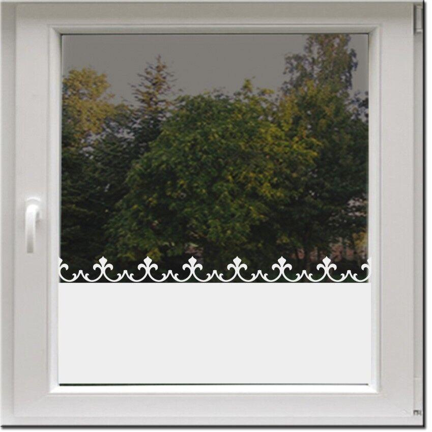 Fensterfolie Sonnenschutz Sichtschutz Milchglasfolie Glasdekor Gardine