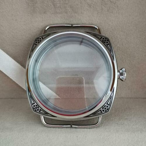 47mm Watch case 604 style Carving pattern 316L stainless steel For Watch