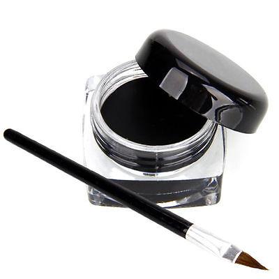 Pro Waterproof Eye Liner Liquid Eyeliner Shadow Gel Makeup Cosmetic+Brush ifca