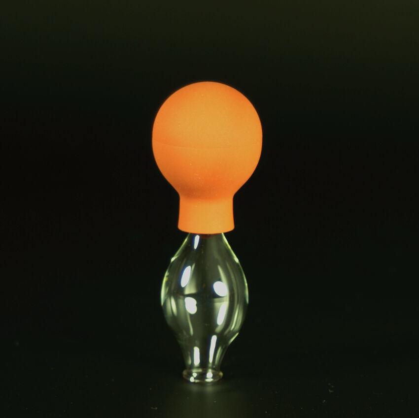Schröpfglas Schröpfgläser mit Saugball med. Schröpfen Original Lauschaer Glas 10 mm