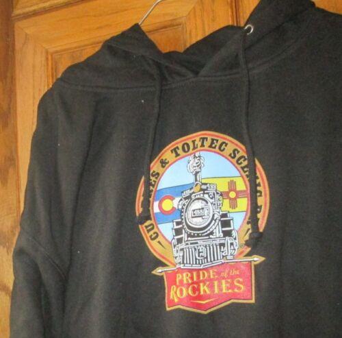 Basix of America CUMBRES & TOLTEC RAILROAD black pullover hoody sweatshirt sz XL