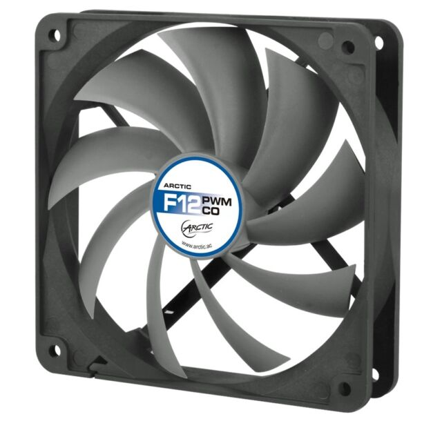Arctic Cooling F12 PWM PST CO 120mm Case Fan 1350 RPM (AFACO-120PC-GBA01)