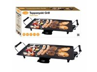 BNIB Electric Teppanyaki Grill Table Top Griddle BBQ Hot Plate 2000W RRP £39.99