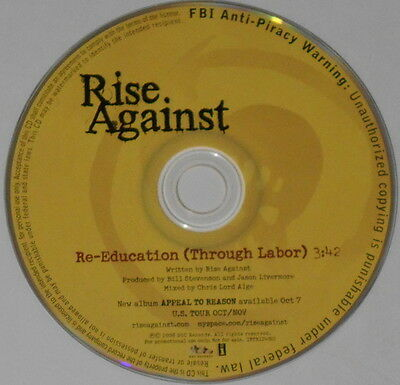 Rise Against  Re Education  Through Labor   2008 U S  Promo Cd
