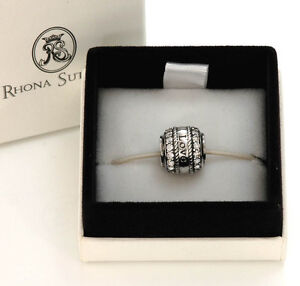 Rhona Sutton Sterling Silver Charm Beads: Mum, Daughter, Love, Friends, Filigree