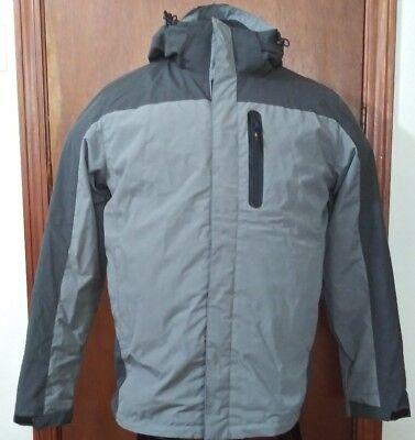 New Hawke & Co Sport Men Jacket 3 in 1 System Fleece XXL Gray Grey Long