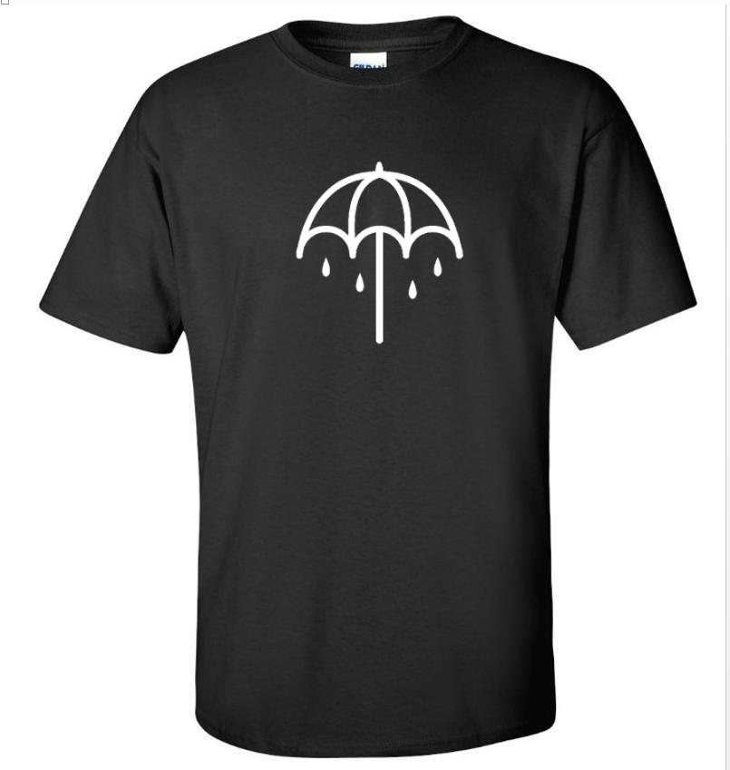 Bring me the horizon Umbrella Logo Rock Band Black T-Shirt Long Sleeve  S 5XL