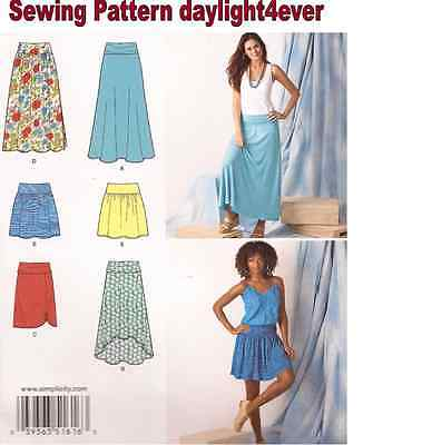 Women  Skirt Long /Short 5 Styles Sewing Pattern 1616 New Size 8-16 #r