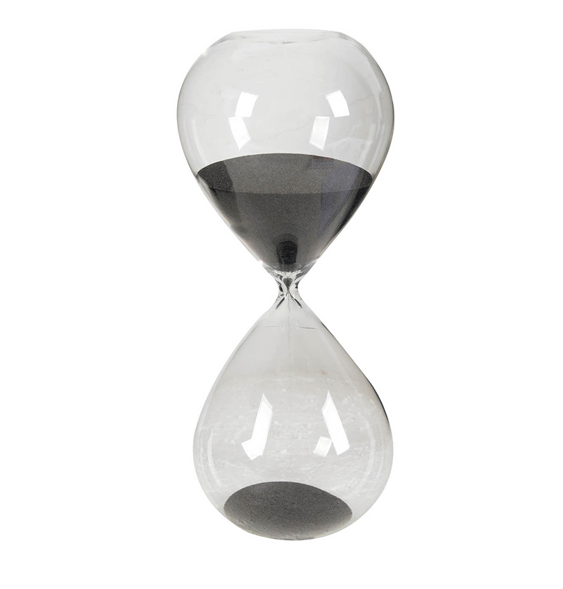 AB Home Ferdinand 2-Hour Hourglass In Black Sand 75289-BLAC