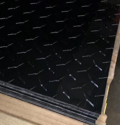 24 X 96 Black Aluminum Diamond Plate Sheet - 1pc - .025 Gloss Black