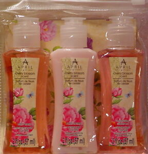 april bath shower cherry blossom scent travel set shampoo april bath amp shower april bath and shower verbena mint 284