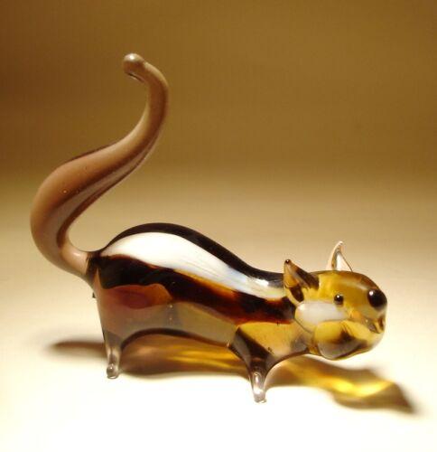 Blown Glass Figurine Art Animal Striped Rodent Squirrel CHIPMUNK