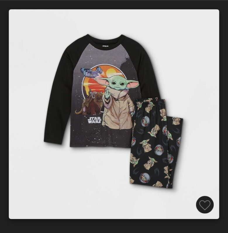 "Boys Star Wars The Child Pajama Set ""Disney Mandalorian"" Sz Medium (8-10)"