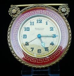 Vintage ZENITH Travel Alarm Clock with ENAMEL