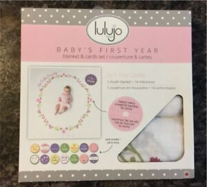 Baby's First year blanket & card set