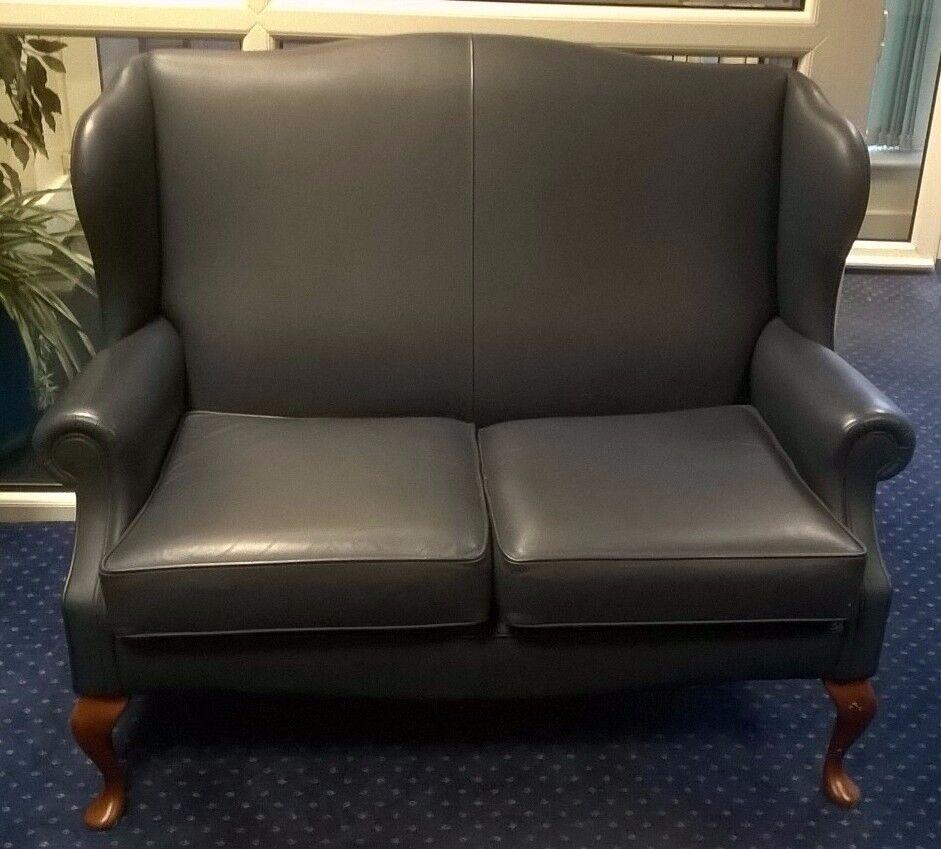 Sherborne Kensington Leather Fireside Chairs X2 2 Seater Sofa  ~ Kensington Leather Sofa