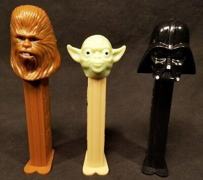 Vintage Star Wars Pez Chewbacca Darth Vader Yoda