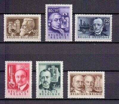 BELGIUM 1955 CULTURAL SET mnh** 973/78