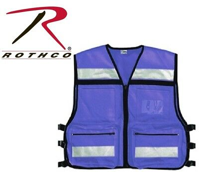 Safety Blue High Visibility EMS EMT AID Oxford Tactical Rescue Vest 9521