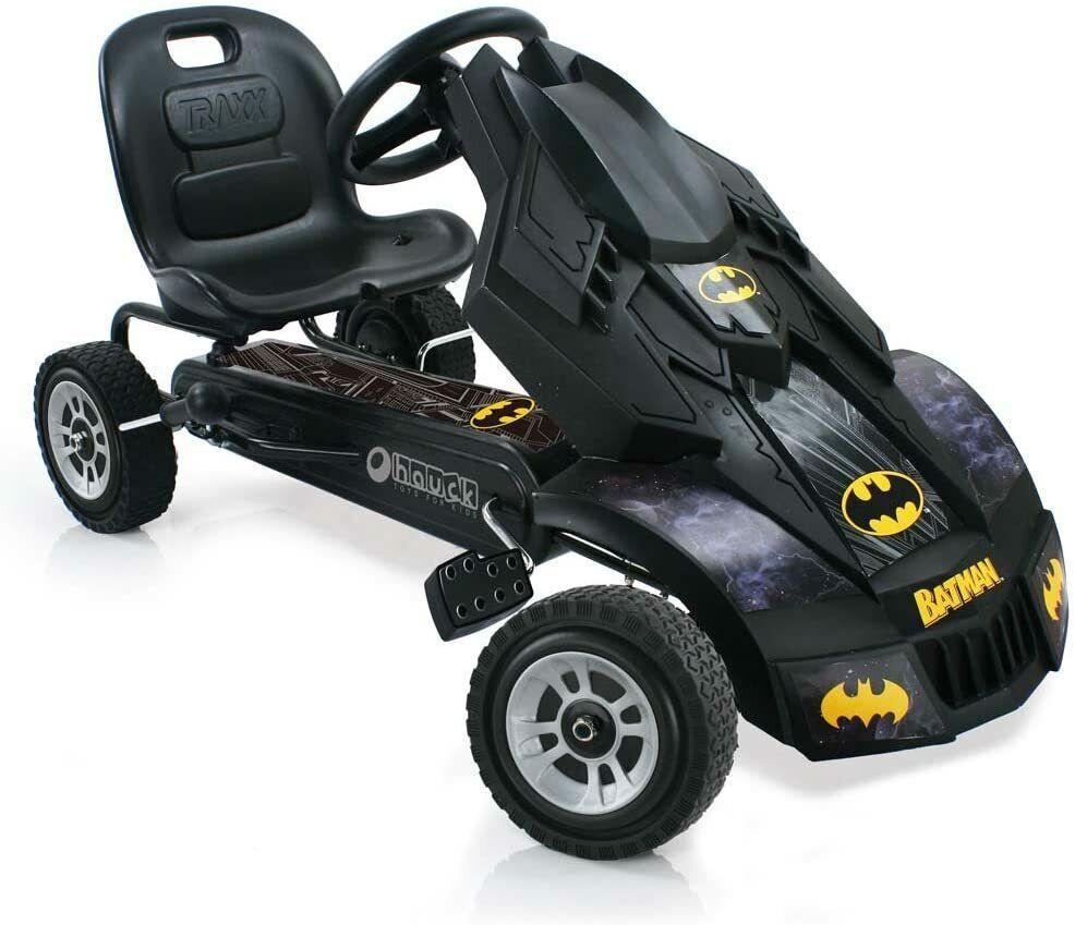 Hauck Batmobile Go Kart für Kinder ab 4 Jahren schwarz gelb
