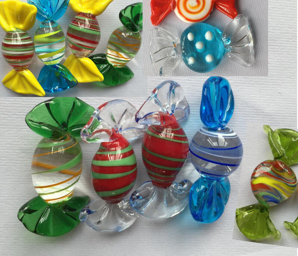 12pcs Vintage Murano Glass Sweets Wedding Party Candy Christmas Decorations
