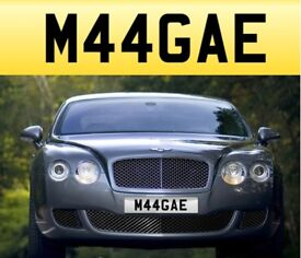 M44 GAE - ( Maggie ) Cherished private personalised registration number plate