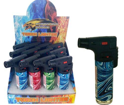 "3 Pack Jumbo 4""Single Jet Flame Torch Gun Lighter Refillable Lockable Windproof"
