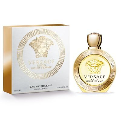 VERSACE EROS POUR FEMME 3.3 / 3.4 oz edt Perfume New in Box