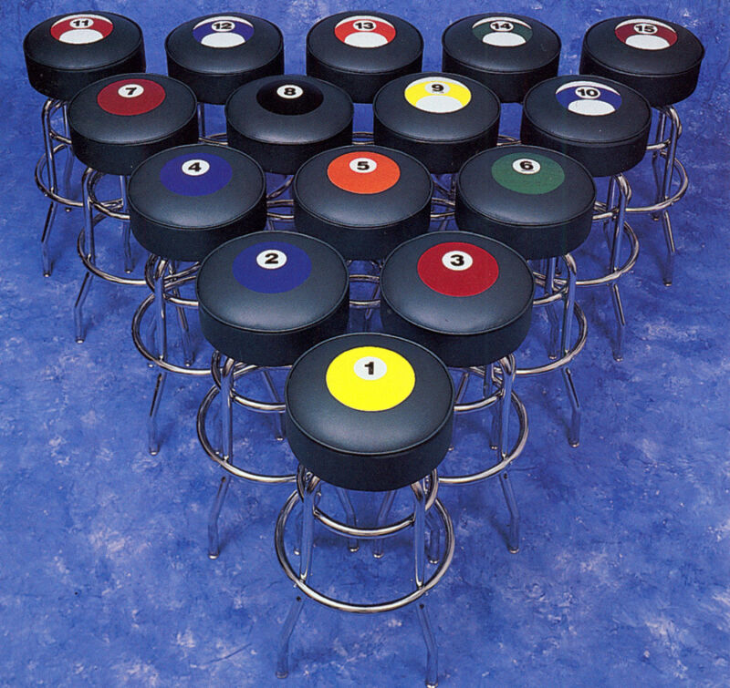 Billiard Pool Table Pool Ball Bar Stools 8 Ball 9 Ball Billiards