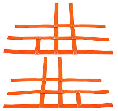 Polaris Predator 500   Nerf Bar Nets   Pro Peg   Fit Alba Tusk   Orange  J