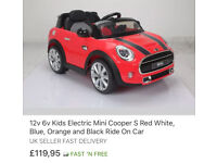 Kids electiric Mini Cooper red color