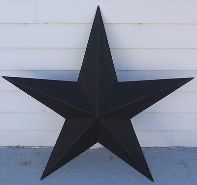 "36"" Black Star Metal Barn Texas Rustic Tin Country Primitive Americana New"