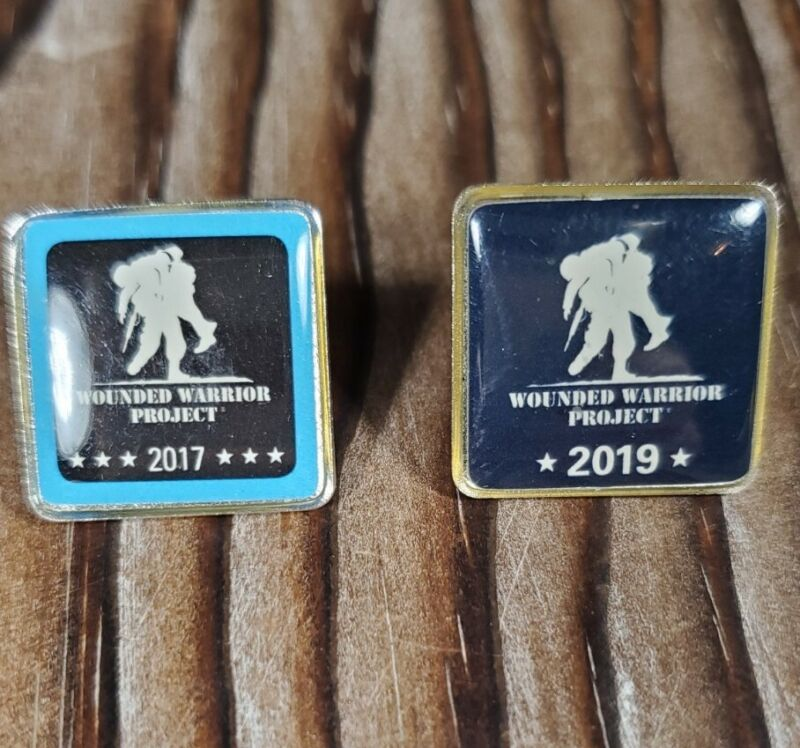 Wounded Warrior Project Lapel Pin Lot Of 2 - 2017 2019