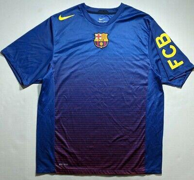 Nike Barcelona FC Barca Jersey Training Shirt Football Soccer Dri-Fit Kit Barcelona Training Jersey
