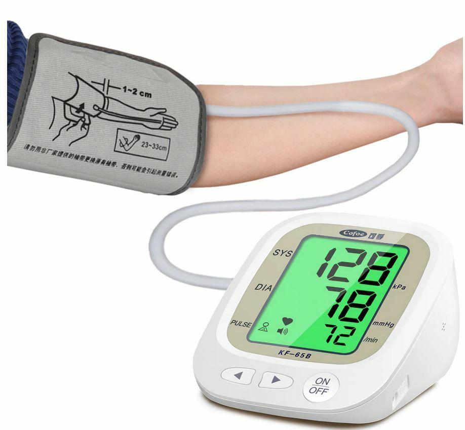 English Voice Cuff Wrist Blood Presure Meter Monitor Free US