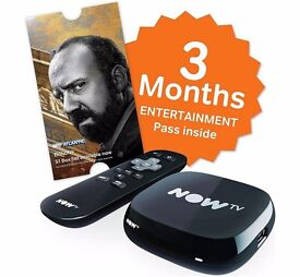 NOW TV Box with 3 Months Sky Entertainment Pass - Brand New & Sealed