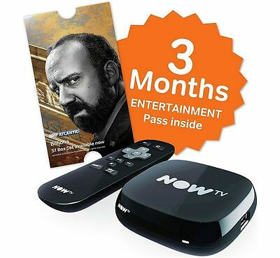 Now tv box with 3 months entertainment pass - brand new & sealed