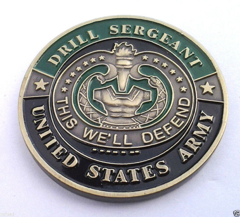 DRILL SERGEANT Military Veteran US ARMY CHALLENGE COIN 22339 HO