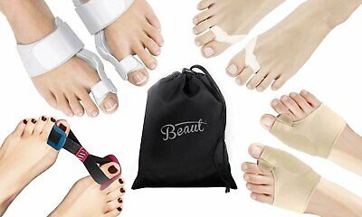 Complete Orthopedic Bunion Corrector and Relief Kit (8-Piece) Hallux Valgus Care Health & Beauty