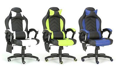 MASSAGE RACING GAMING COMPUTER BUCKET OFFICE DESK CHAIR WITH LUMBAR SUPPORT
