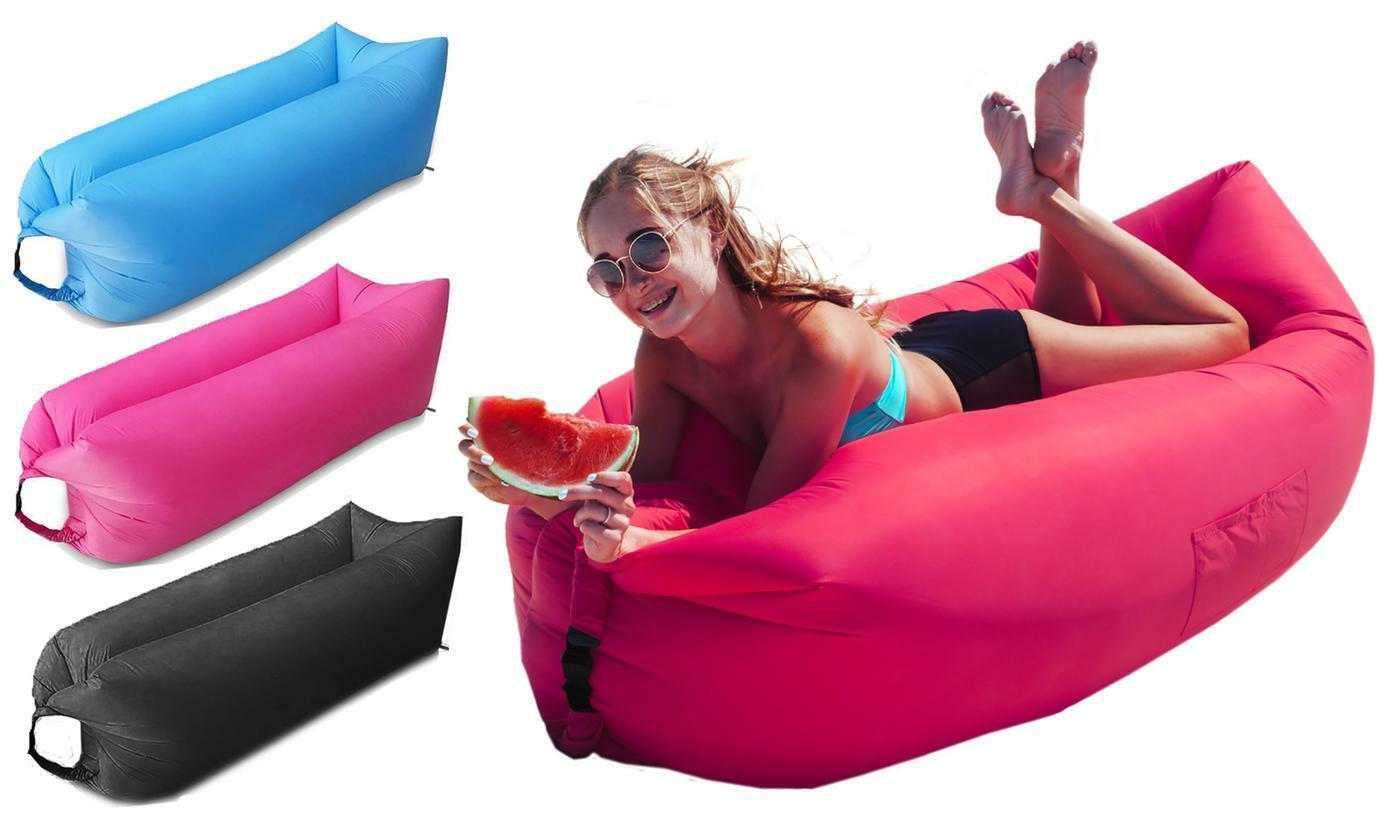 Instant Inflatable Lounger Portable Air Sofa Hammock Beds & Mattresses