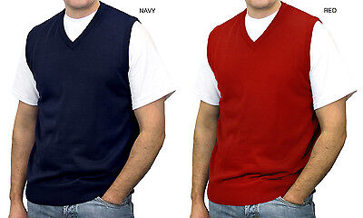 Big Tall Sweater Vests - BLUE OCEAN MEN'S V-NECK CASUAL SOLID BIG AND TALL SWEATER VEST (SV-243BM)