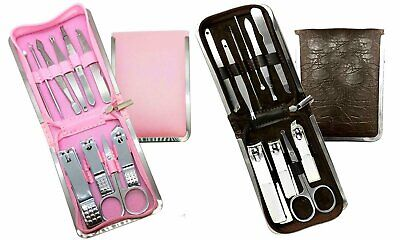 Stainless Steel Manicure and Pedicure Tool Kit with Foldable Pouch (11-Piece) Health & Beauty